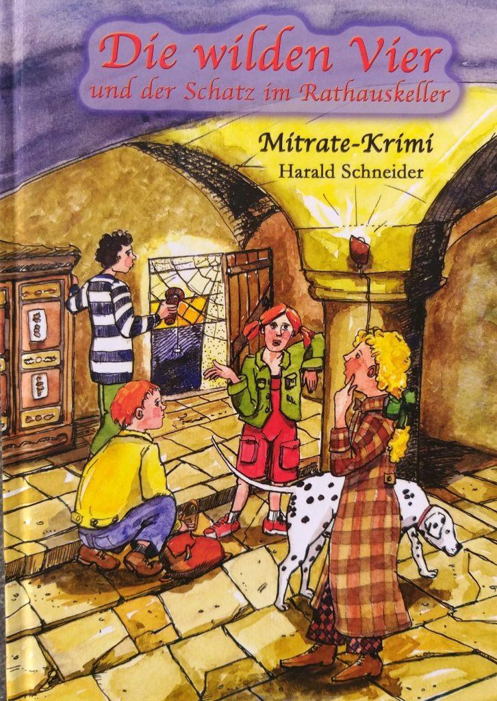Cover Die wilden Vier und der Schatz im Rathauskeller